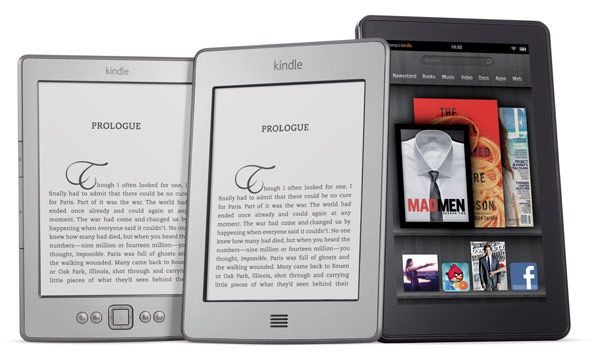 The Kindle, Kindle Touch and Kindle Fire