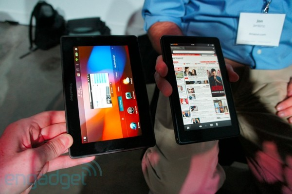 Kindle Fire vs. BlackBerry PlayBook Fight!