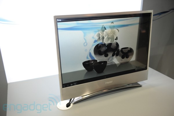 Haier's transparent organic TV
