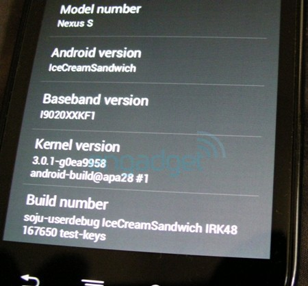Android Ice Cream Sandwich Screenshot