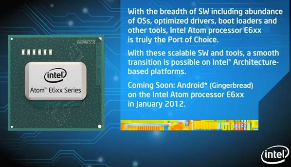 Intel Reveals January 2012 Gingerbread Atom E6xx Series