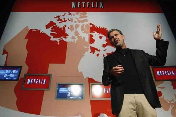 netflix canada 09 22 2010 Reed Hastings Netflix spinoff isnt about DVD success, its about hedging the stream