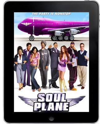 Qantas testing iPad in-flight entertainment, still won't compare to flying Soul Plane