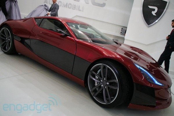 Rimac Automobili unveils 1,088 horsepower Concept One electric supercar