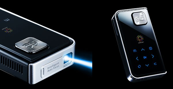 Seeser laser pico projector is always in focus, powered by Android