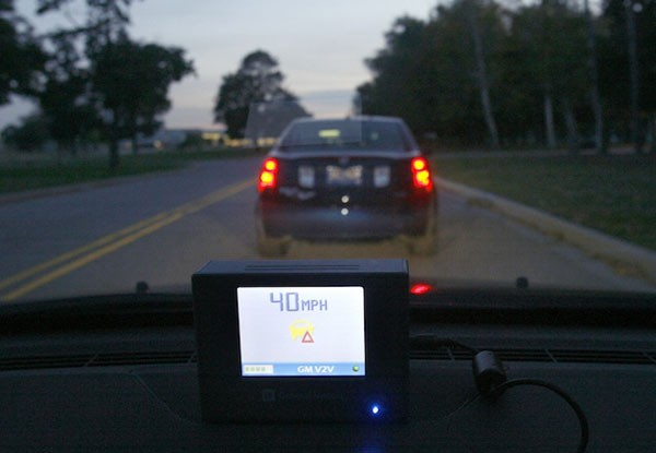 GM demos accident avoidance system with brains and long range