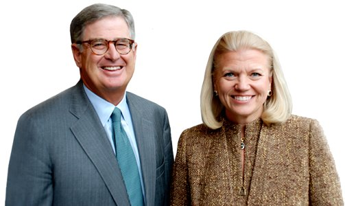 Virginia Rometty and Samuel Palmisano