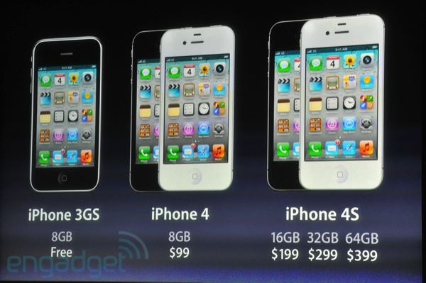iPhone 3GS, iPhone 4, iPhone 4S prices