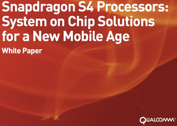 Qualcomm Snapdragon S4 SoC Details