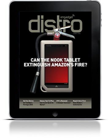 Engadget Distro Issue 15 tackles the Nook Tablet, HTC's Rezound and your turkey hangover