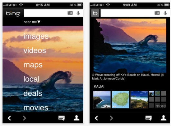 Microsoft Releases Bing App for Android, iOS