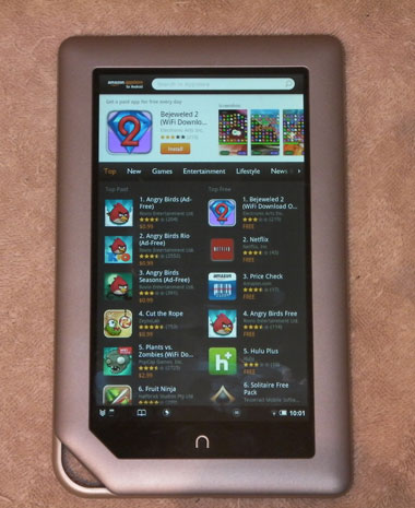 Nook Tablet forgets to use protection, lets outside apps in