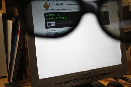 Hack your monitor and 3D glasses, ensure ultimate privacy