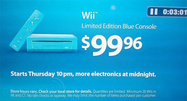 Walmart Selling Limited Edition Blue Wii for $99.96