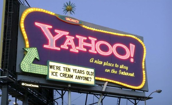 Defunct Yahoo billboard