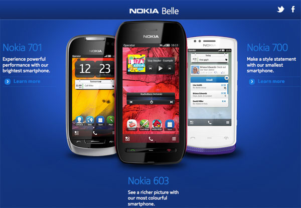 Nokia Belle