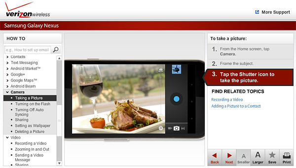 2011 12 14 vz Verizon posts Galaxy Nexus simulator, doesnt cap your virtual data