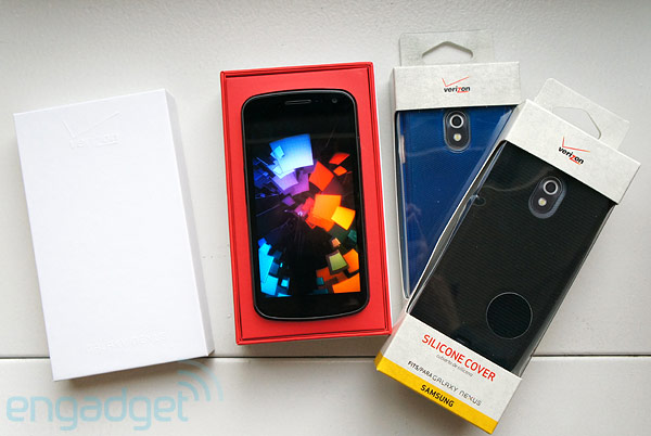 Verizon Samsung Galaxy Nexus with cases