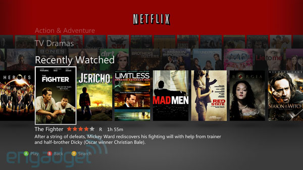 Netflix for Xbox 360 updates with better contrast and episode navigation