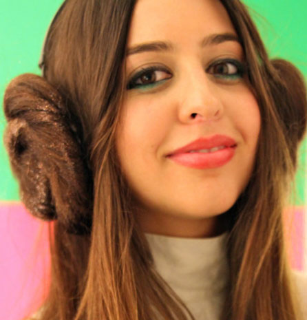 Lookalike Leia buns replicate Star Wars fashion for Druish princesses everywhere