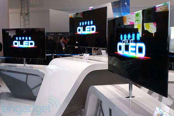 Samsung 55-inch OLED TV at CES