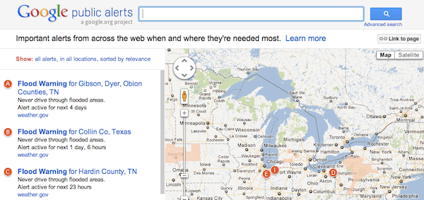 Google adding Public Alerts to Maps, keeps you in the loop in times of worry