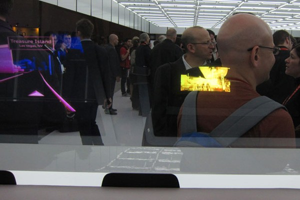 Audi gesture-controlled head-up display