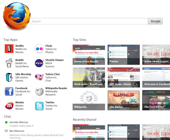 possiblefirefoxhomescreendantetktk TECHPULSE January 28, 2012