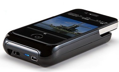 Sanwa pico projector also charges your iphone for Apple pico projector