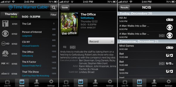Time Warner Cable app streams live TV to iPhones, no longer iPad-only