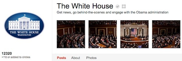 white house google plus The White House joins Google+, invites you to Hangout