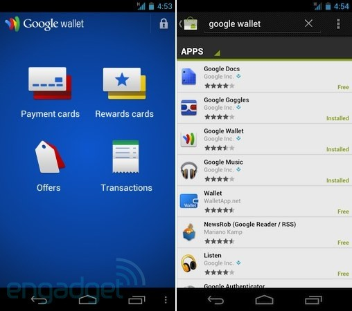 AT T connected Galaxy Nexus, Nexus S get Android Market Google Wallet installs