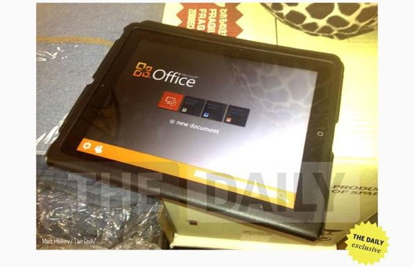 Office for iPad leak