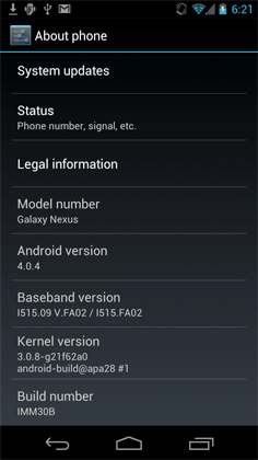Android 4.0.4 ROM leaks for Verizon's Galaxy Nexus