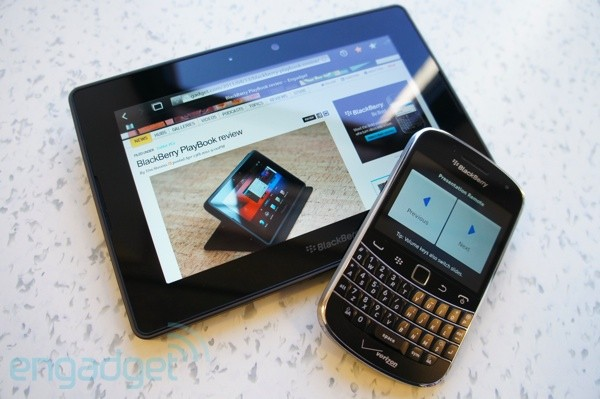 BlackBerry PlayBook OS 2.0 and Bold 9930