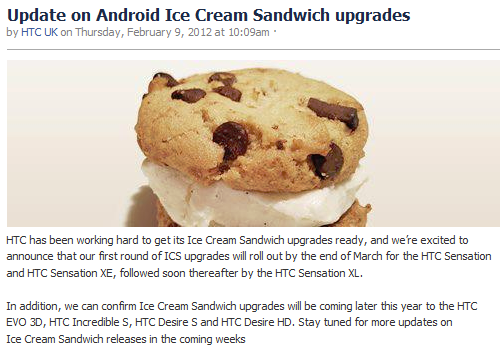 HTC's first ICS update rolls out in late March, Sensation and Sensation XE call first dibs