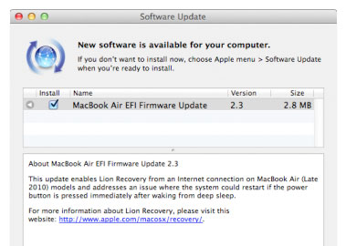 Apple updates EFI firmware on 2010 Macs: offers Lion internet recovery, not much else