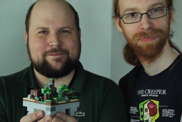 Notch with Lego Minecraft