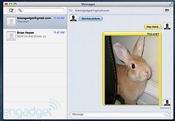 OS X Mountain Lion Messages Beta