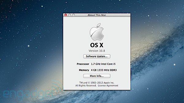 OS X Mountain Lion About This Mac