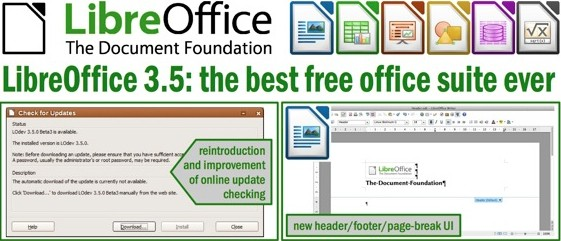 LibreOffice updates to version 3.5, brings grammar check, bigger Calc workbooks, and more