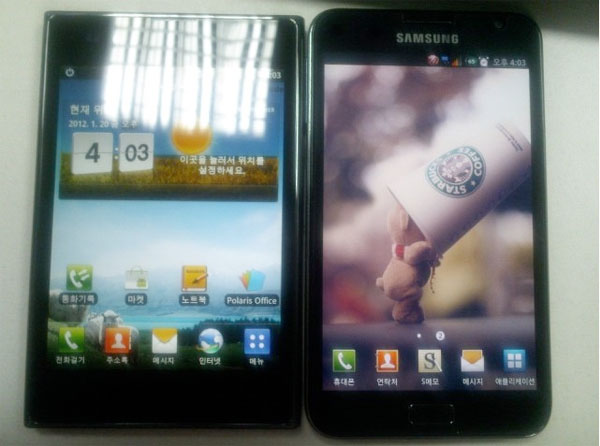 LG Optimus Vu gets pictured alongside Samsung Galaxy Note