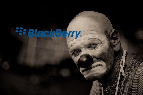 bb sad clown iPhone shipments overtake BlackBerry in Canada, RIM now runner up in its hometown
