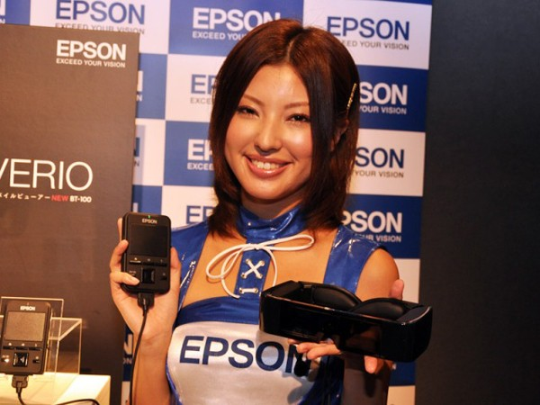Epson's Moverio BT-100 brings some transparency and 3D to head-mounted displays