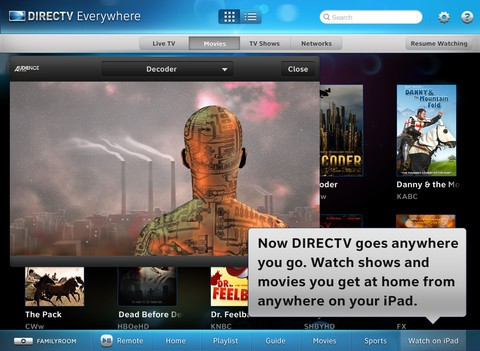 After adding live TV streaming features to the DirecTV iPad app last fall, ...