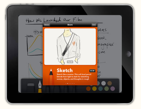 Paper: the iPad sketchbook app from the brains of Courier (video)