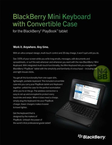 Official BlackBerry PlayBook Mini Keyboard coming on March 23rd for $  120?