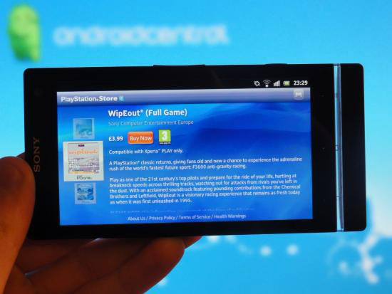 Xperia S, now with 100 percent more PlayStation Store