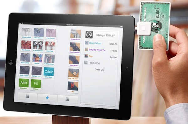 Square's Register app turns the iPad into a full on point of sale terminal