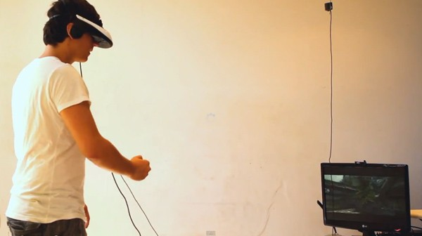 Kinect and head-mounted display make love, give birth to virtual-reality Skyrim